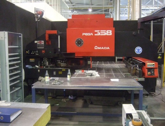 Amada Pega358 Turret Punching Machine Used Sheet Metal
